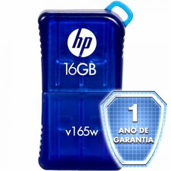 Pen Drive HP V165W - 16GB - USB 2.0 - Azul