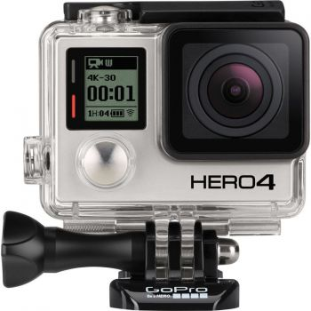 Câmera GoPro Hero 4 Black Edition Adventure 4K Ultra HD 30 fps - 12MP - Wifi - Bluetooth + Cartão 16GB Classe 10