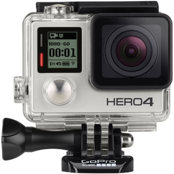 Câmera GoPro Hero 4 Silver Edition Adventure 4K 12MP Tela LCD touch - Wifi - Bluetooth + Cartão 16GB Classe 10