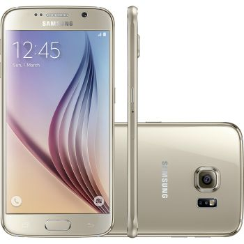 Smartphone Samsung Galaxy S6 32GB Android 5.0 Super Amoled 5.1'' 4G Wi Fi Câmera 16MP Dourado