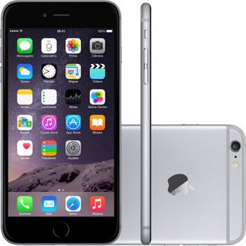 iPhone 6 16GB Cinza Espacial iOS 8 4G Wi-Fi Câmera 8MP - Apple