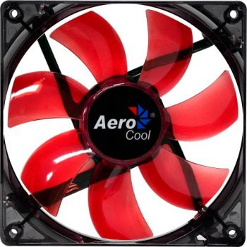 Cooler Fan Lightning 12cm RED LED EN51363 Vermelho AEROCOOL