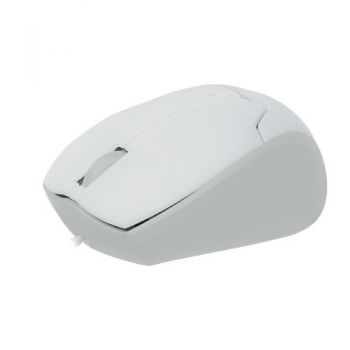 Mini Mouse Retrátil USB MM-601 Branco FORTREK