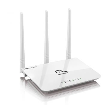 Roteador Wireless Wifi 300Mbps -  300Mbps - 3 Antenas com 11 canais - Multilaser RE163