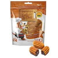 PETITOS DELICIAS DO CHEF MINI CHURROS 65G - PETISCO PARA CÃES - UN