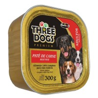 THREE DOGS PATÊ DE CARNE 300G - CÃES ADULTOS